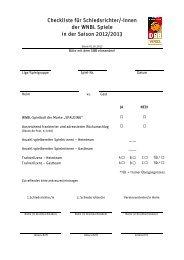 Checkliste für Schiedsrichter - Deutscher Basketball Bund ...