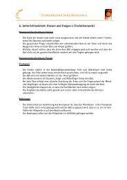6. Unterrichtseinheit: Passen und Fangen 1 (Technikerwerb)