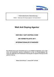 Verbotsliste 2011 - DIS - Deutsches Sportschiedsgericht