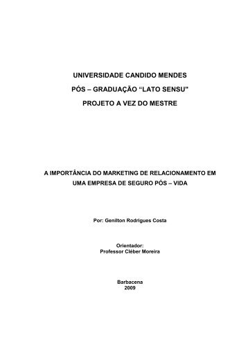 Genilton Rodrigues Costa - AVM Faculdade Integrada