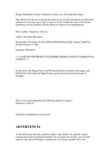 Lendas e Narrativas (Tomo I), by Alexandre Herculano