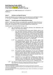 Anti-Doping-Code (ADC) - Deutscher Basketball Bund › Deutscher ...