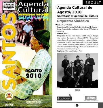 Agenda Cultural de Agosto/2010 - Copa 2014