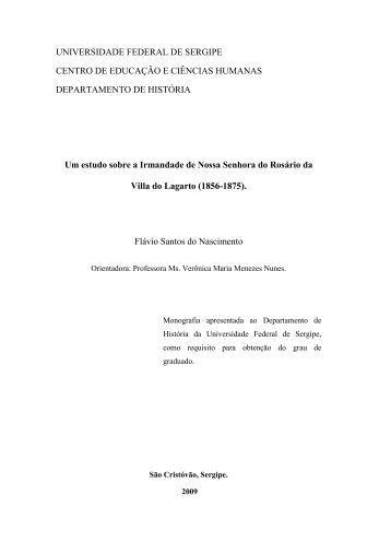 Um estudo sobre a Irmandade de Nossa Senhora do Rosário da ...