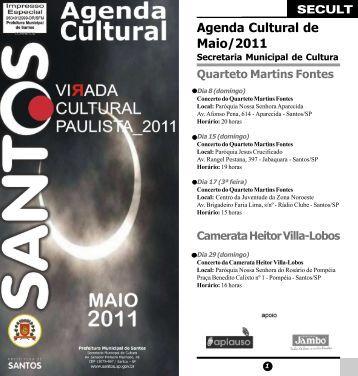 Agenda Cultural de Maio/2011 - Prefeitura de Santos - Governo do ...