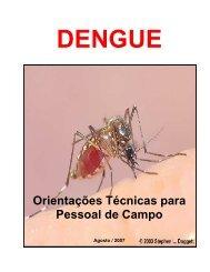CAPA DO MANUAL - Diretoria de Vigilância Epidemiológica