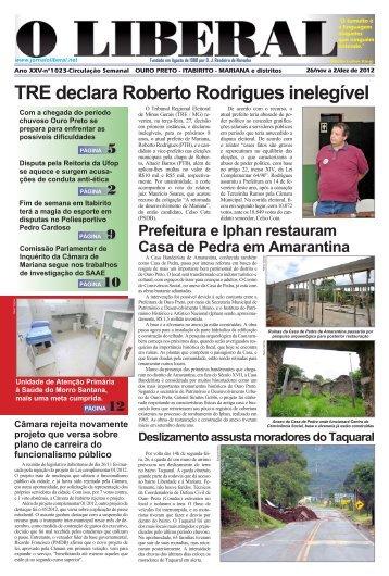 Onde dorme a Guarda Municipal de Ouro Preto - Jornal O Liberal