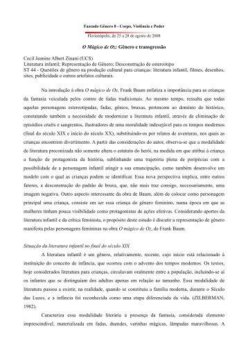 Cecil Jeanine Albert Zinani - Fazendo Gênero 10