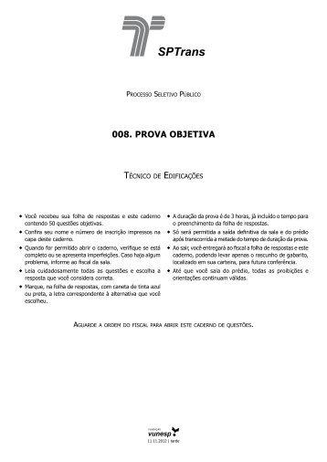 008. PROVA OBJETIVA - Questões de Concursos