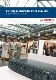 Sistema de chamadas Plena Easy Line A gestão fácil do som - Bosch