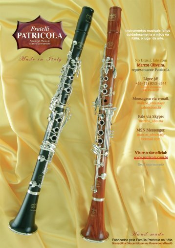 Clarinete - Palheta Dupla Brasil