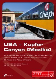 USA – Kupfer Canyon (Mexiko) - Zermatt Rail Travel
