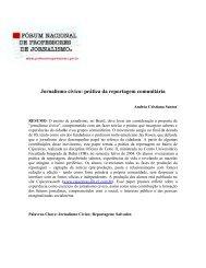 Jornalismo cívico: prática da reportagem comunitária - FNPJ