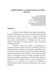 SABERES DOCENTES – DA TEORIA À PRÁTICA, DA ... - Dom Bosco