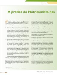 A prática do Nutricionista nas diferentes - Conselho Regional de ...