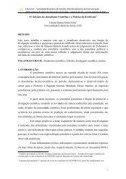 O Advento do Jornalismo Científico e a Prática da ... - Intercom
