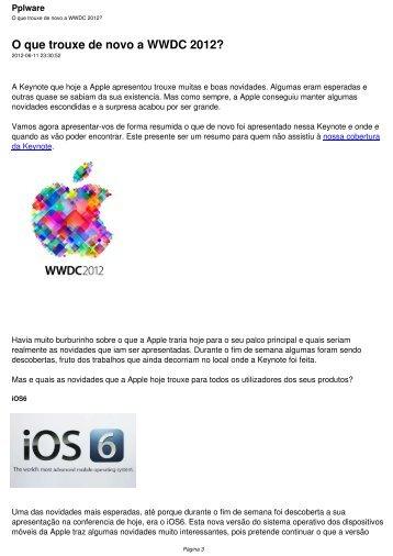 O que trouxe de novo a WWDC 2012? - Pplware
