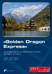 «Golden Dragon Express» - Zermatt Rail Travel