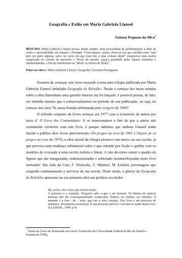geografia e exílio em maria gabriela llansol - Universidade Federal ...