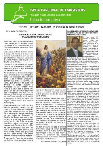 Edição nº 1600 - 30 de Janeiro de 2011 - Paróquia de Carcavelos