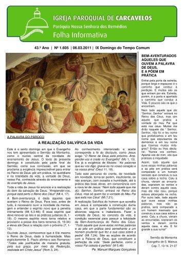 Edição nº 1605 - 6 de Março de 2011 - Paróquia de Carcavelos