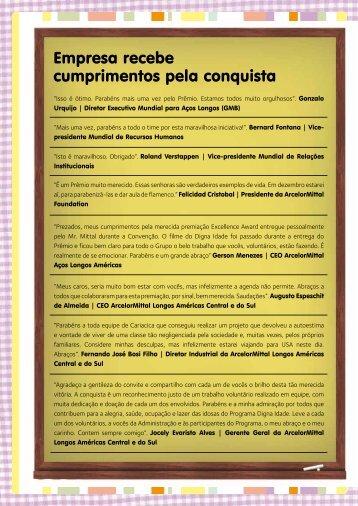Premiação Digna Idade - Fundação ArcelorMittal Brasil