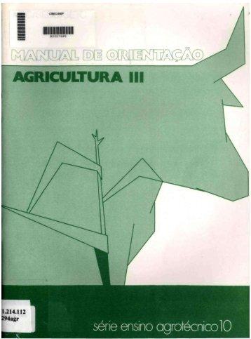 Manual de ORIENTAÇÃO - AGRICULTURA III. - Fundação Visconde ...