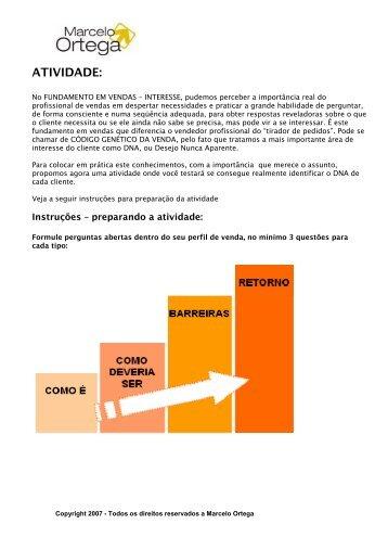 ATIVIDADE: - Marcelo Ortega