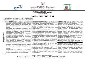 área de conhecimento: lingua portuguesa