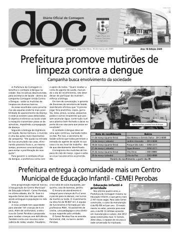 Diário Oficial Nº 2449 - Prefeitura de Contagem