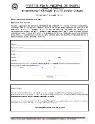 Edital de Licitação n - Prefeitura Municipal de Bauru