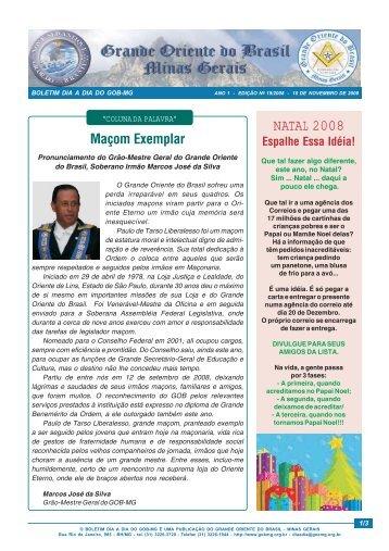 NATAL 2008 - Grande Oriente do Brasil