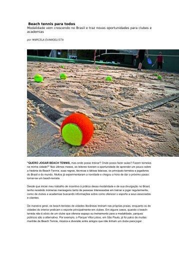 Beach tennis para todos - Crab Beach Tennis