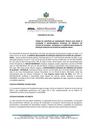 Convênio - Arsal/Detran-AL