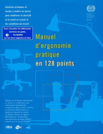 Manuel d'ergonomie pratique en 128 points : Solutions - Irsst
