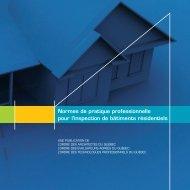 Normes de pratique professionnelle pour l'inspection de bâtiments ...