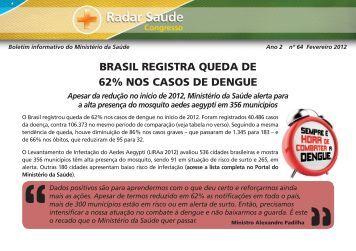 Edição nº 64 (Fevereiro 2012 - Ano 2) - Ministério da Saúde
