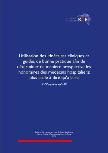 Utilisation des itinéraires cliniques et guides de bonne pratique afin ...