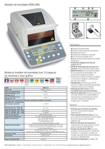 Medidor de humidade KERN DBS Moderno medidor de humidade ...