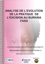 Analyse de l'evolution de la pratique de l'excision au Burkina Faso ...