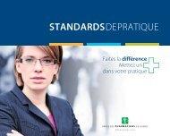 Standards de pratique - Ordre des pharmaciens du Québec