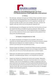 Allgemeine Geschäftsbedingungen der Firma ... - BAUEN+LEBEN