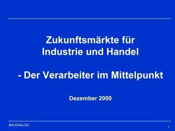 Dr. Dieter Buss, Zukunftsmärkte für Industrie und Handel