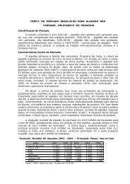 perfil do mercado brasileiro para algodão não ... - BrasilGlobalNet