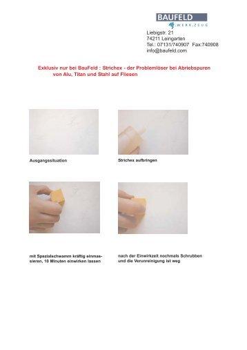 Exklusiv nur bei BauFeld : Strichex - der Problemlöser bei ...