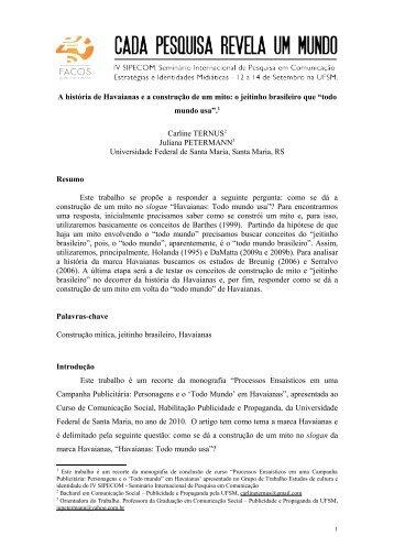 Padrão (template) para submissão de trabalhos ao - UFSM