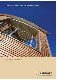 Bau- und Leistungsbeschreibung 1/2011 PDF - Baufritz