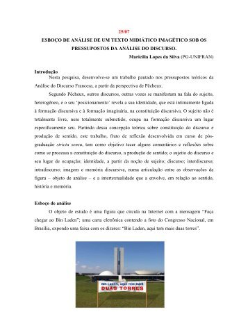Maricília Lopes da Silva - 13º Congresso Brasileiro de Língua ...