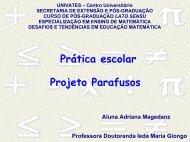 Apresentação - Projeto Parafusos - Univates