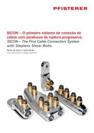 SICON – O primeiro sistema de conexão de cabos com parafusos ...